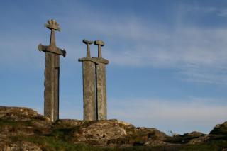 swords in rock