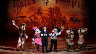 buffalo bill\'s wild west show with mickey and friends