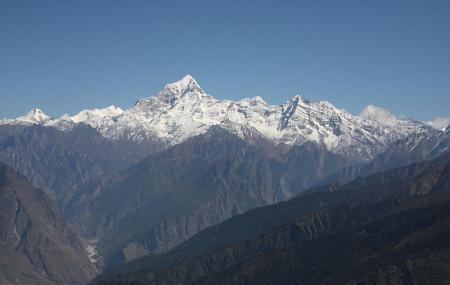 Panoramic View Of The Himalayas Image