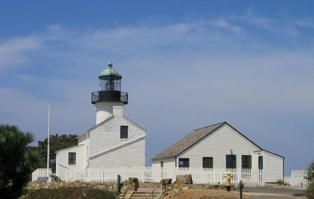Old Point Loma Lighthouse And Cabrillo National Monument Image