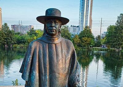 Stevie Ray Vaughan Statue Image