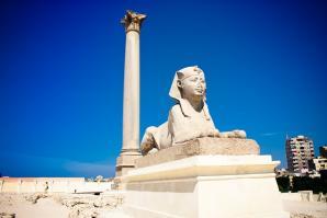 Pompey's Pillar And Temple Of Serapeum, Alexandria