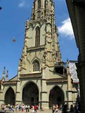 Cathedral At Munsterplatz, Bern