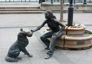 Girl With Her Dog Statue, Budapest